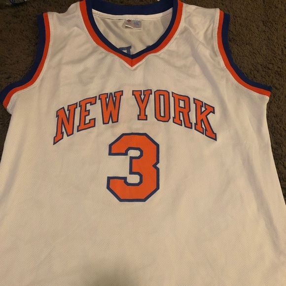 best loved e65ca 79fc3 Knicks John Starks white exclusive MSG Jersey